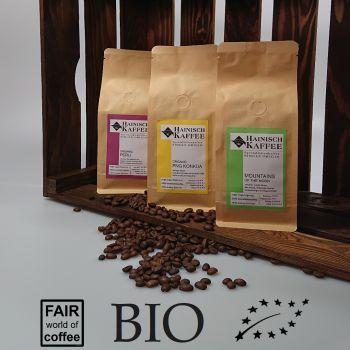 Biokaffee Kennenlernpaket (3 x 250g)