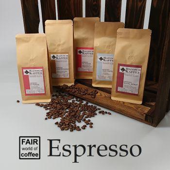 Espresso Kennenlernpaket (5 x 250g)