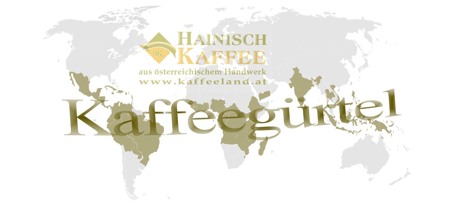 Weltkarte mit Kaffeegürtel