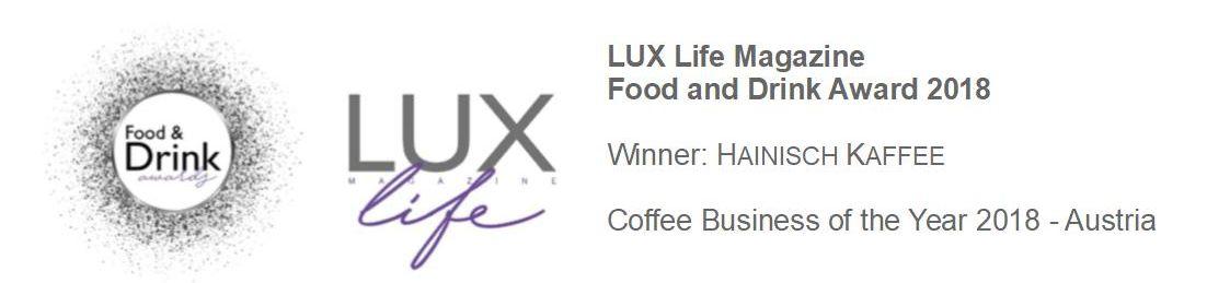 LUX Life Magazine Award