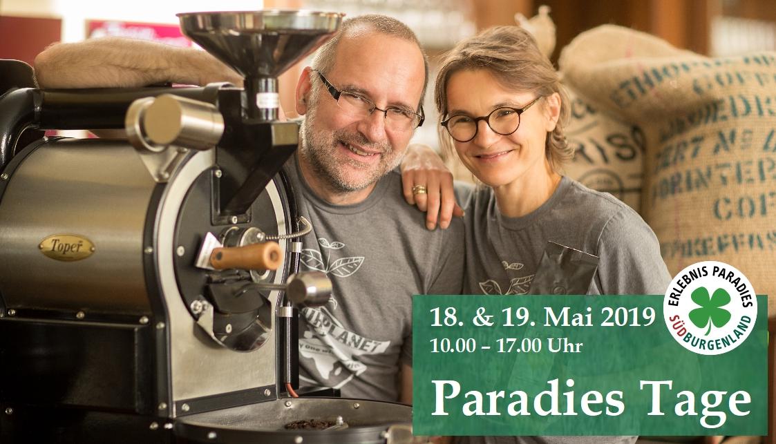 Beate und Günter Hainisch neben Kaffeeröster