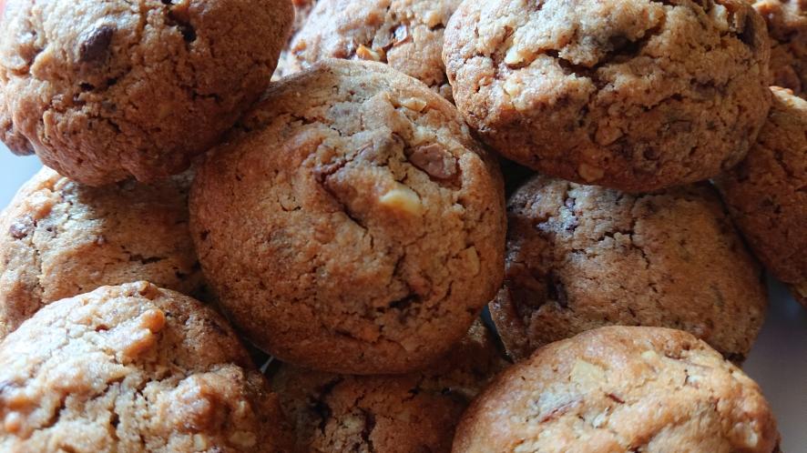 einige Cookies gestappelt