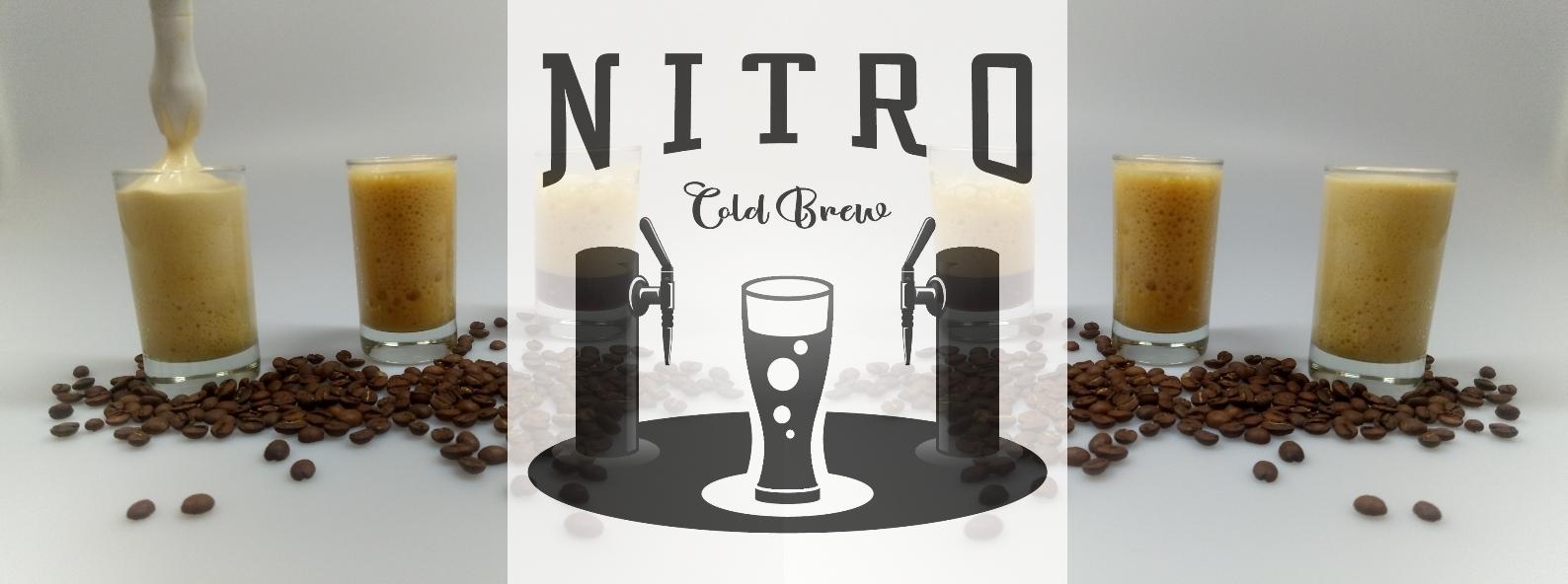4 Gläser mit Nitro Cold Brew Coffee