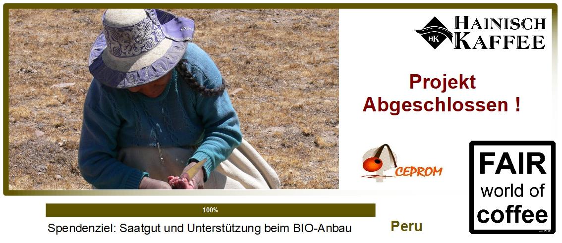 Projektgrafik Saatgut in Peru