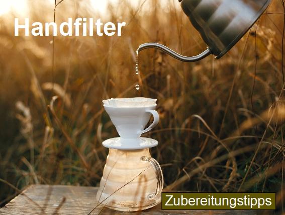Zubereitungstipps für die Kaffeezubereitung mit einem Handfilter