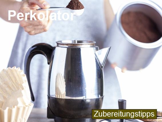 Zubereitungstipps für die Kaffeezubereitung mit einem Perkolator