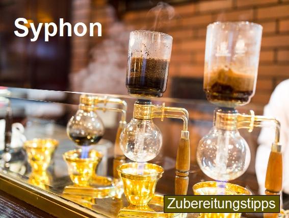Zubereitungstipps für die Kaffeezubereitung mit einem Kaffeesyphon