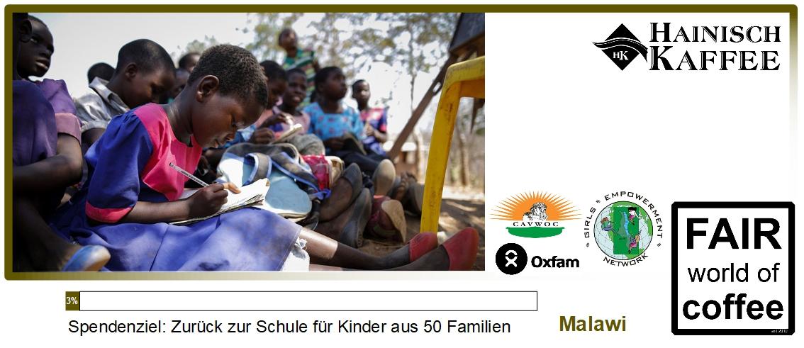 Projektgrafik zurück zur Schule in Malawi